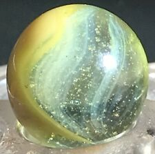 """BEAUTIFUL MASTER MARBLES LIME BUBBLY YELLOW PATCH SUNBURST (5/8"""")"""