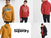 Mens Superdry King Graphic Overhead Hoodie Fashion Casual Gym Jumper Hoody Top