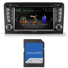 ZENEC Z-E3150 Naviceiver für Audi A3 8P 8PA  Bluetooth CD DVD USB Digitalradio
