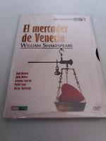 """DVD """"TEATRO EL MERCADER DE VENECIA"""" COMO NUEVO JOSE BODALO JULIO NUÑEZ DIGIPACK"""