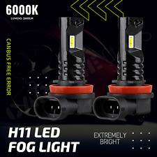 2x H11 LED Bulbs Fog Light Canbus Bright 2600LM 6000K Range Rover MK3 2007-2012