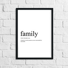 Funny Family Meaning Print, Definition, Typography, Home Decor, Wall Art Gift