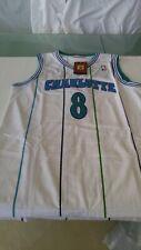 Rare White Kobe Bryant Charlotte Hornets Draft Day Jersey #8 XL 48 NWOT