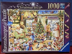 Ravensburger The Christmas Shop 1000 Piece Jigsaw Limited Edition Completed Knxe