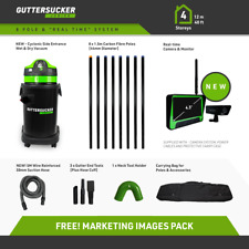 Gutter Sucker Vacuum & Live Action Inspection Camera - 8 Pole Package
