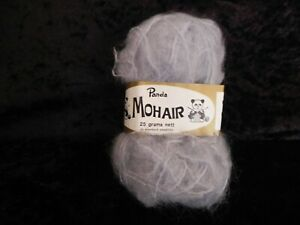 5 Balls Panda Mohair Yarn - Grey