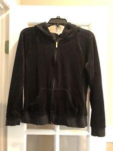 Juniors Juicy Couture Zip Up Hoodie/ Black/ Medium