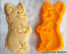 Corgi Dog Cookie Cutter Beg Cute Biscuit Baking Fondant Tool Ceramics Pottery