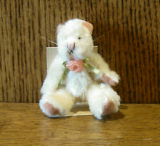 "Russ Berrie MO BEARS & FRIENDS #21053 CHAILEY, 3.25"" Mohair From Retail Store"