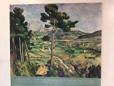 1993 CEZANNE POSTER PRINT 33X30 MONT SAINTE-VICTOIRE, METROPOLITAN MUSEUM OF ART