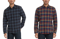 Lot of 2 Grayers Heritage Flannel Button Down Mens L Shirt Plaid Blue NWT