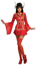 Secret Wishes Red Ginger Asian Oriental Geisha Sexy Adult Costume Size Small 2-6