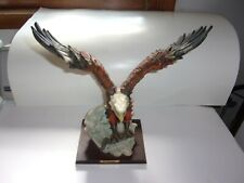 Very Nice Cornwallis Majestic Eagle With Fish In Talons On Wooden Plaque