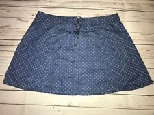 BONGO Blue Polka Dot Chambray Juniors Size XL Flare Twirl Skirt
