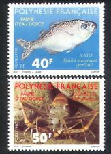 French Polynesia 1990 Freshwater Fish/Shrimp/Nature/Wildlife 2v set (n38646)