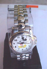 Lorus Mickey Mouse Watch Stainless Steel Band Mickey's Arms Keep Time NEW