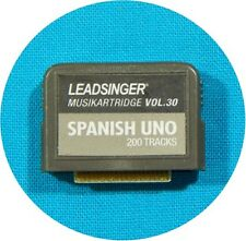 NEW LEADSINGER MUSIKCARTRIDGE VOL.30 SPANISH UNO 200 TRACKS/SONGS ++FREE SHIP!