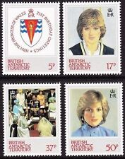 BAT BRITISH ANTARCTIC 1982 94-97 92-95 21st Birthday Princess Diana Royals MNH 2