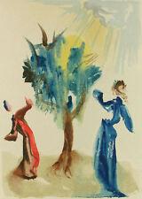 Salvador Dali - The Divine Comedy - Purgatory Canto 24: The Tree of Penitence