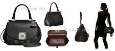 Coach Satchel Bag Western Rivet Drifter Top Handle Satchel Black Leather $595