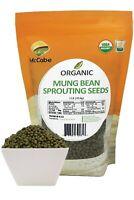McCabe Organic Mung Bean Sprouting Seeds, 1-pound