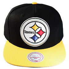 Mitchell & Ness NFL Pittsburgh Steelers Snapback Hat 2tone Color XL Front Logo