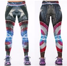 Marvel Comics CAPTAIN AMERICA Logo Yoga Pants OSFM Leggings