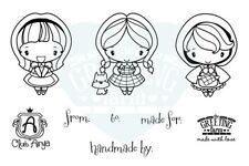 SIGNATURE-The Greeting Farm Rubber Stamp-Mini Anya-Red Riding Hood/Dorothy/Alice