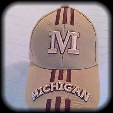 U of M Ball Cap, Khaki, OSFA, Michigan University, NWT 80/20 Wool/Acrylic Hat