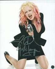 Cyndi Lauper 8 x 10 Autographed Photo COA Singer Songwriter Actress True Colors