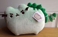 """GUND Authentic Pusheenosaurus PUSHEEN Green Dinosaur Gray Cat Plush Toy 13"""" L"""