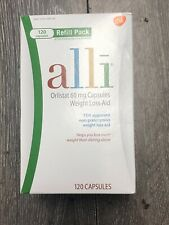 alli Orlistat 60mg Weight Loss Supplement Pills - 120 Capsules Count NEW Ex 2/22