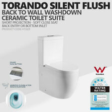 025 Tornado SILENT FLUSH Back to Wall Faced Ceramic Toilet Suite/Soft Close Seat