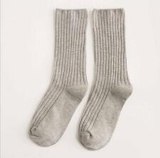 新款秋冬新款全棉雙針堆堆襪 抽條鬆口襪子女中筒襪子!!!