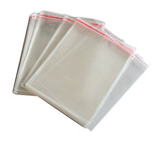 100 x New Resealable Clear Plastic Storage Sleeves For Regular CD Cases JS