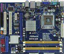 SCHEDA MADRE ASROCK G41C-GS DDR2 800 DDR3 1333 4xSATA 2xUSB SK 775