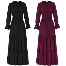 Retro Vintage Style 50s 60s 1920s Peasant Victorian Evening Party Maxi Dress ~XL