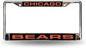 Chicago Bears Chrome Metal Laser Cut License Plate Frame