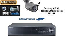 Samsung 4x Bullet Cameras & 1x 8 canaux DVR 1 To CCTV dispositifs antimanipulation Kit SCO-6023/SRD-894
