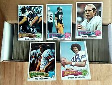 1975 Topps Football Complete Set 1-528 Swann Theismann Pearson RC EX-NRMT