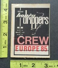 LED ZEPPELIN,HONEYDRIPPERS,Original Vintage cloth Backstage pass,1985 tour