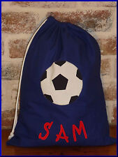 PERSONALISED LIBRARY BAG /TOY BAG - SOCCER BALL -
