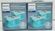 Philips Norelco Replacement Cleaning Cartridge JC302 Smart Clean 2 Boxes New