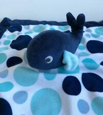 Carters Baby Boys Lovey Security Blanket Whale Navy Blue Dots 2016 Cuddly Soft