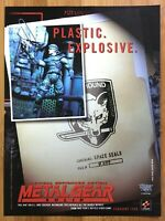 Official Metal Gear Solid Todd McFarlane Action Figures Print Ad/Poster Snake
