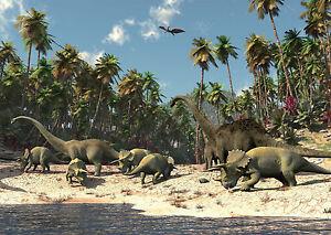 Fototapete XXL Kinderzimmer Dinosaurier Tiere Jungenzimmer Tapete Wandtapete 25
