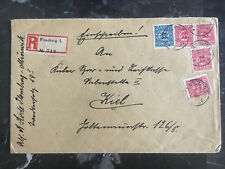 1920 Flensburg Schleswig Upper Silesia Cover to Kiel germany
