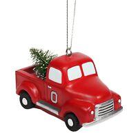 Ohio Buckeyes Truck with Tree Christmas - Tree Holiday Ornament FREE SHIPPING