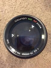 Ozunon MC Minolta Mount AF Auto Focus Zoom 75-200mm 1:4.5 Lens