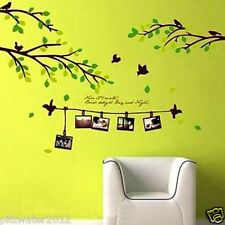 Family Tree Photo Frame Branch Leaves Removable Wall Sticker Kids Living Lounge